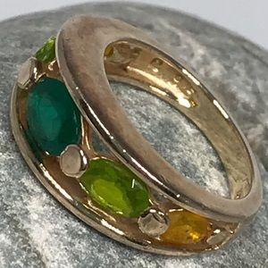 Ross-Simons Peridot & Citrine Ring Gold /Sterling